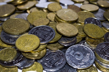 Huge pile of the Ukraine coins