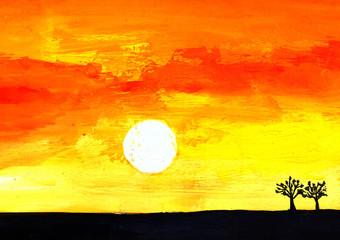 Sunrise. Art picture
