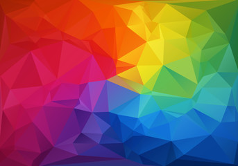 Obraz Mosaik Polygon Hintergrund - fototapety do salonu