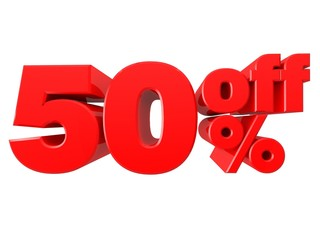 55% Promotional Sign Isolated on white background (3D render)