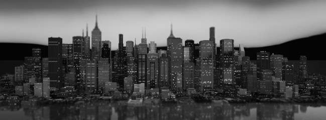 Skyscraper City Illustration (Panoramic/Header)