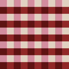 Marsala plaid seamless pattern