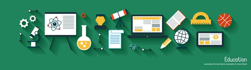 infographics background education