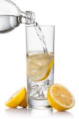 Fototapete - water and lemon