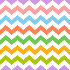 Colorful seamless zig zag pattern
