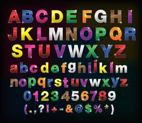 creative  alphabet metal border set