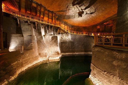 Wieliczka salt mine near Krakow in Poland.