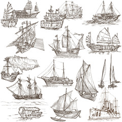Boats - Hand drawings, Originals