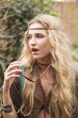 attractive hippie