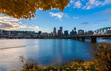 Fototapete - Portland, Oregon Waterfront