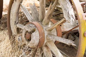Rustic wooden wagon wheel hub
