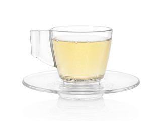 Hot tea isolated on white