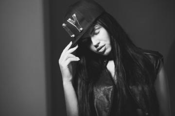 girl in a cap rapper