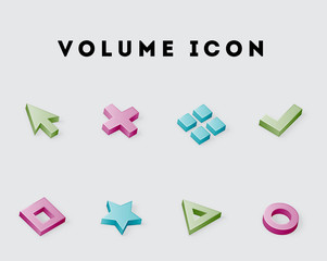 Volume Vector Icon Pack 1