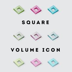 Icon Square Volume Pack