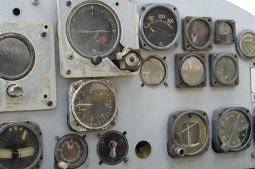 control panel helicopter old