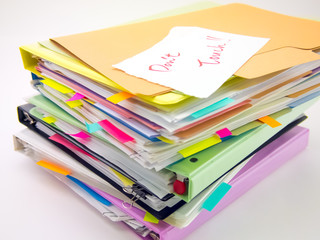 The Pile of Business Documents; Don't Touch