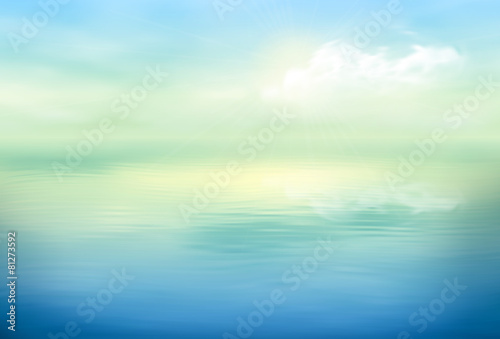 Wall mural Water Vector Background Calm Clear