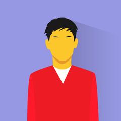 profile icon asia male avatar portrait casual person