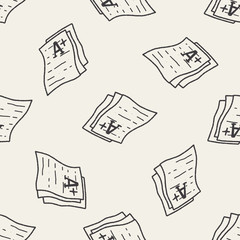 test papper doodle seamless pattern background