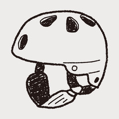 skate helmet doodle