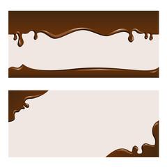 チョコレート 背景 セット