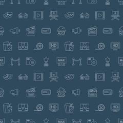 movie line icon pattern set