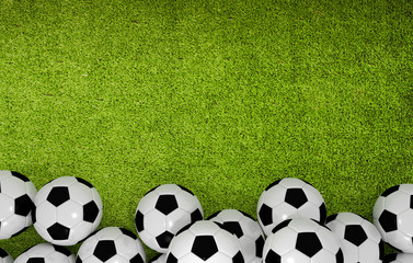 Green Grass Background with Balls