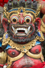 Traditional stone sculpture in temple , Bali, Indonesia
