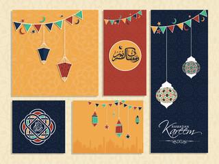 Ramadan Kareem celebration website banners or cards.