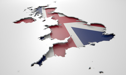 Recessed Country Map Britain Wall mural