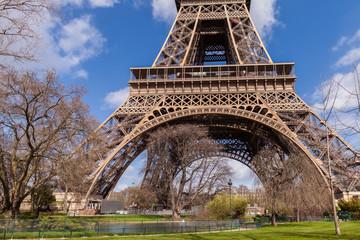 Photo sur Toile Paris Eiffel Tower in Paris France, Famous Tourism Landmark