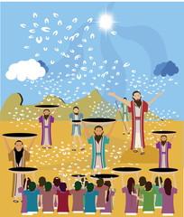 Manna, the bread from God, Exodus 16:14-16