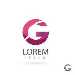 Creative logo design, letter G. Colorful vector icon.