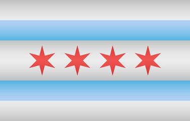 Chicago city Flag