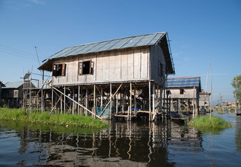 Stilt houses, Inle lake
