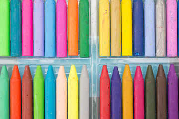 Crayon in the tray