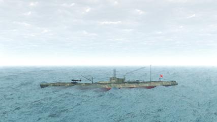 Japanese submarine of WW2