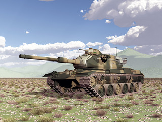 American main battle tank of the cold war