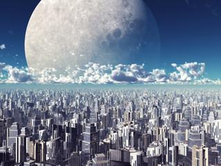 Mond auf Tuchfühlung