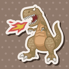 dinosaur cartoon theme elements vector,eps