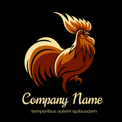 Company logo template with fire cock