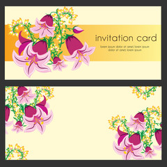 Set of greeting card