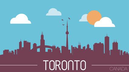 Toronto Canada skyline silhouette vector illustration