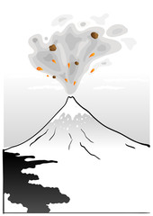 Mountain Fuji, japanese art illustration
