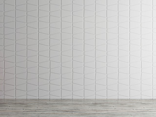 empty interior space wall background, 3d illustration