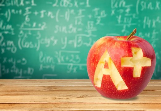 Letter A. Apple A+ White Background