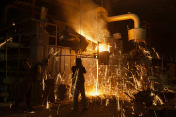 Melting Factory and Workers