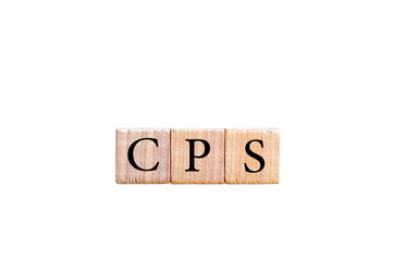 Acronym CPS - Cost per Sale isolated with copy space