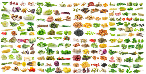 Wall Murals Vegetables set of vegetable on white background